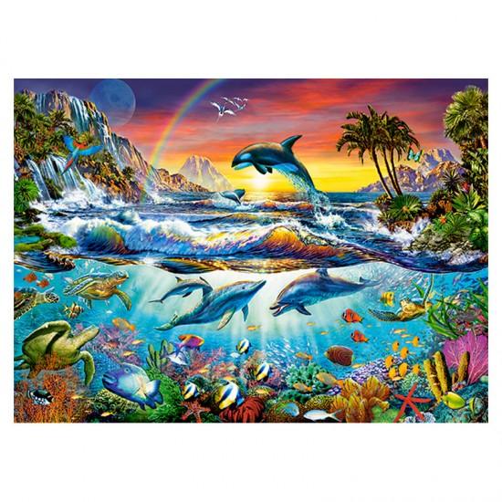 Puzzle 300 pièces : Crique paradisiaque - Castorland-030101