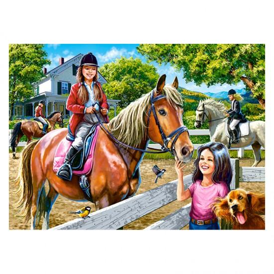Puzzle 300 pièces : Equitation - Castorland-030095