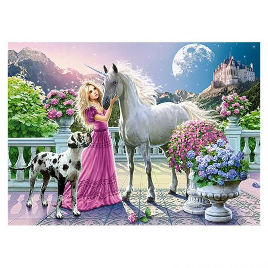 Puzzle 300 pièces : Mon amie la licorne - Castorland-030088