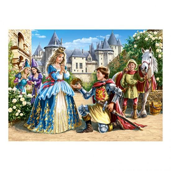 Puzzle 300 pièces : Princesse et chevalier - Castorland-030040