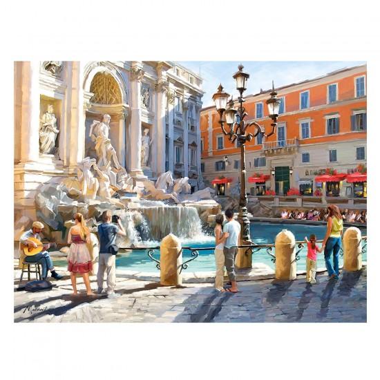 Puzzle 3000 pièces : La fontaine de Trevi, Rome - Castorland-300389-2