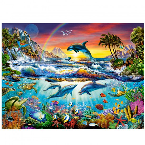 Puzzle 3000 pièces : Paradis aquatique - Castorland-C-300396-2