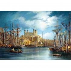 Puzzle 3000 pièces - Le lever du jour sur le port