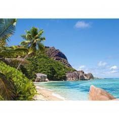 Puzzle 3000 pièces - Plage tropicale, Seychelles