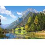 Puzzle 3000 pièces - Refuge au pied des Alpes