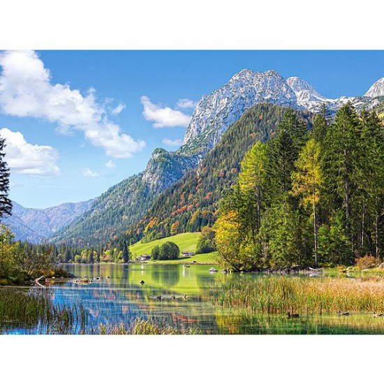 Puzzle 3000 pièces - Refuge au pied des Alpes - Castorland-300273