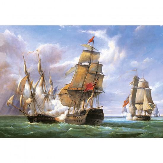 Puzzle 3000 pièces - Vessels : La bataille de Trafalgar - Castorland-300037