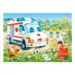 Puzzle 35 pièces : Ambulance