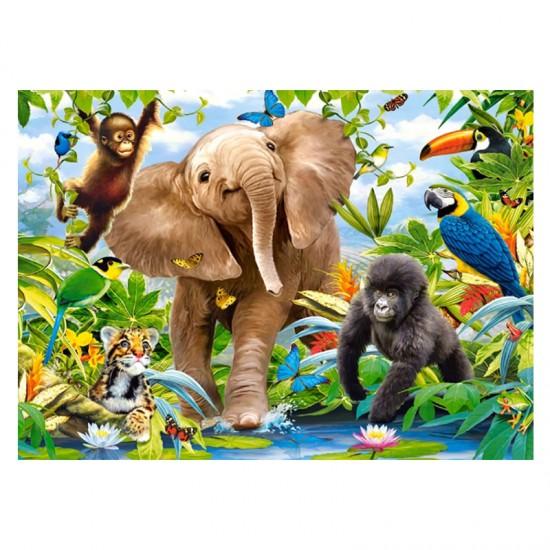 Puzzle 35 pièces : Bébés Animaux de la Jungle - Castorland-035021