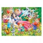 Puzzle 35 pièces : Blanche-Neige et les 7 nains