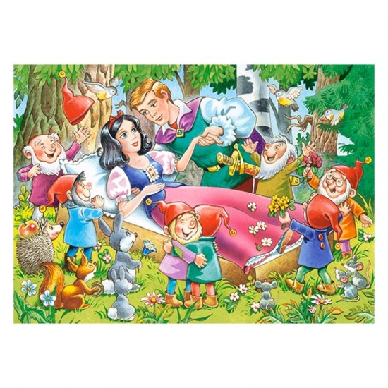 Puzzle 35 pièces : Blanche-Neige et les 7 nains - Castorland-035175
