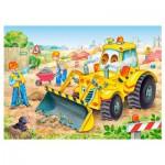 Puzzle 35 pièces : Bulldozer en action