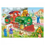 Puzzle 35 pièces : Locomotive Verte