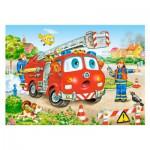 Puzzle 35 pièces : Pompiers