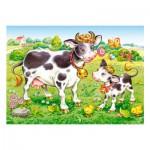 Puzzle 35 pièces : Vaches dans le pré