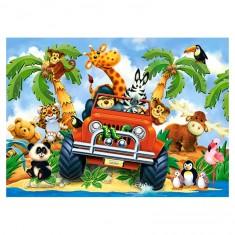 Puzzle 40 pièces : Animaux en safari
