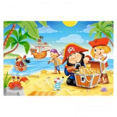 Puzzle 40 pièces : Trésors des pirates