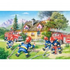 Puzzle 40 pièces maxi : Au feu les pompiers