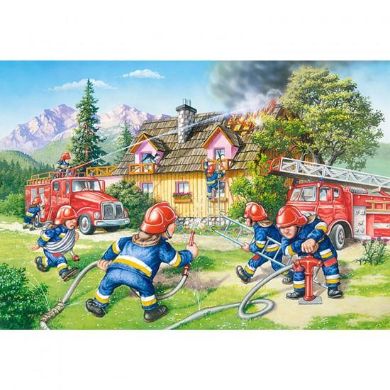 Puzzle 40 pièces maxi : Au feu les pompiers - Castorland-040025
