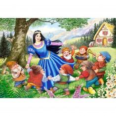 Puzzle 40 pièces maxi : Blanche Neige et les sept nains
