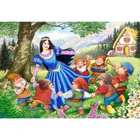 Puzzle 40 pièces maxi : Blanche Neige et les sept nains - Castorland-040049