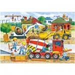 Puzzle 40 pièces maxi : Chantier de construction