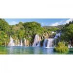 Puzzle 4000 pièces : Cascades du Parc National de Krka en Croatie