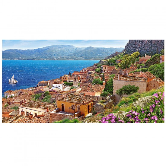 puzzle 4000 pi ces monemvasia gr ce puzzle castorland rue des puzzles. Black Bedroom Furniture Sets. Home Design Ideas