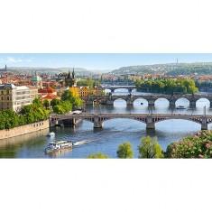 Puzzle 4000 pièces : Ponts sur la Vltava, Prague
