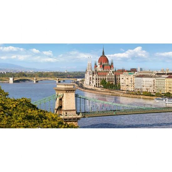 Puzzle 4000 pièces : Vue sur le Danube, Budapest en Hongrie - Castorland-400126