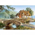 Puzzle 500 pièces : Cottage avec pont