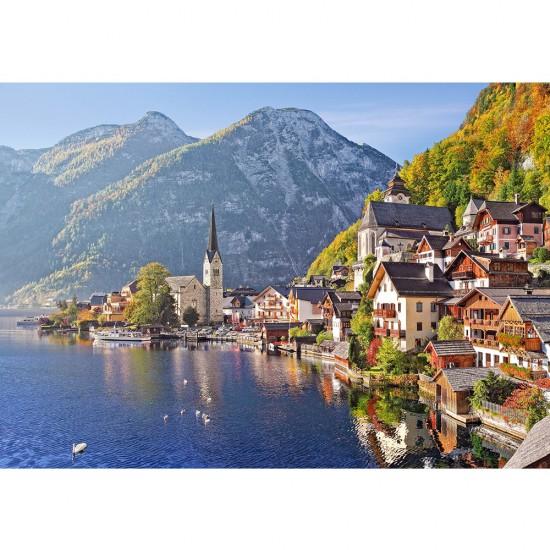 Puzzle 500 pièces : Hallstatt, Autriche - Castorland-52189