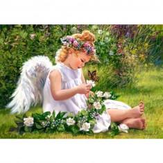 Puzzle 500 pièces : Jardin de l'ange