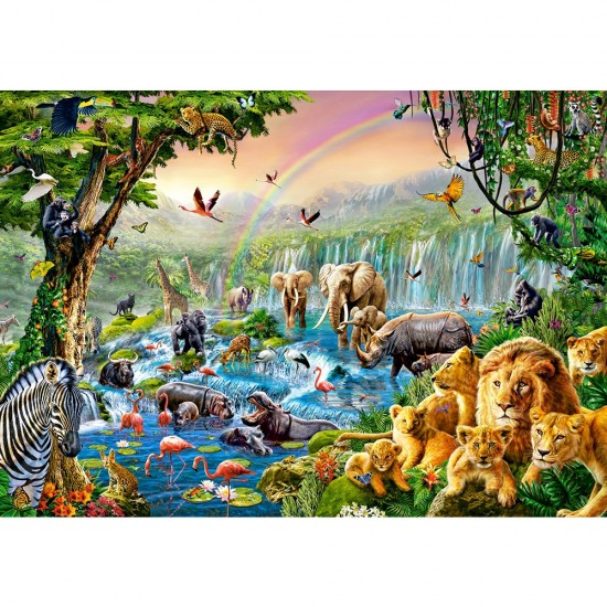 Puzzle 500 pièces : Jungle River - Castorland-52141
