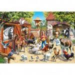 Puzzle 500 pièces : Les habitants de la ferme