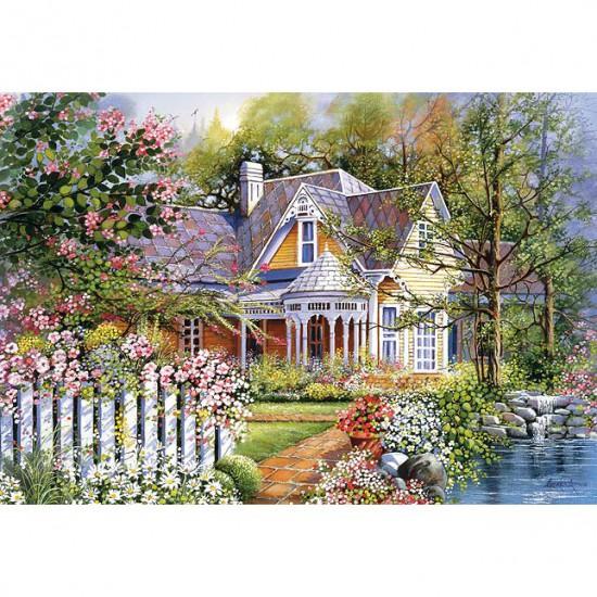 Puzzle 500 pièces : Maison au bord de la rivière - Castorland-51878
