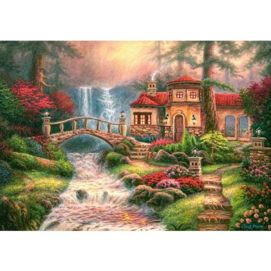 Puzzle 500 pièces : Sierra River Falls - Castorland-52202