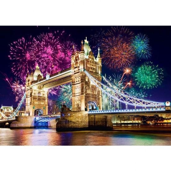 Puzzle 500 pièces : Tower Bridge, Royaume-Uni - Castorland-52028