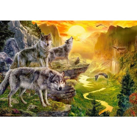 Puzzle 500 pièces : Vallée des Loups - Castorland-52073