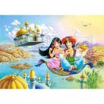 Puzzle 54 pièces - Mini puzzle : Aladdin et Yasmine sur le tapis volant