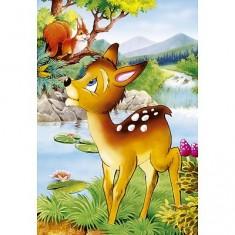 Puzzle 54 pièces - Mini puzzle : Bambi