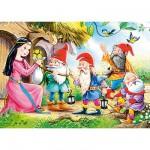 Puzzle 54 pièces - Mini puzzle : Blanche Neige et 4 nains