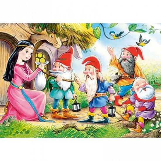 Puzzle 54 pièces - Mini puzzle : Blanche Neige et 4 nains - Castorland-08521B-12