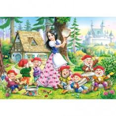 Puzzle 54 pièces - Mini puzzle : Blanche Neige et les 7 nains