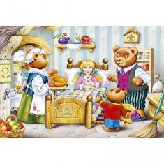 Puzzle 54 pièces - Mini puzzle : Boucle d'or et les ours