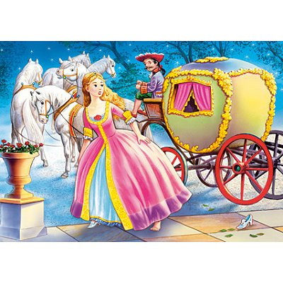 Puzzle 54 pi ces mini puzzle cendrillon descend de son - Cendrillon et son carrosse ...