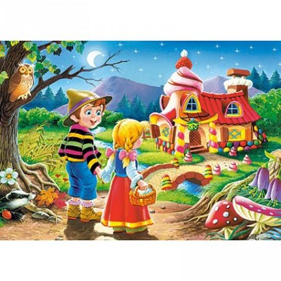 Puzzle 54 pièces - Mini puzzle : Hansel et Gretel devant la maison de la Sorcière - Castorland-08521B-15