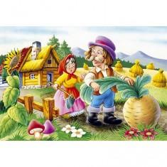 Puzzle 54 pièces - Mini puzzle - Les fermiers : Récolte magique