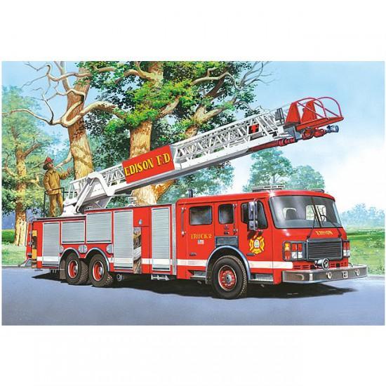 Puzzle 60 pièces : Camion de pompier - Castorland-06595