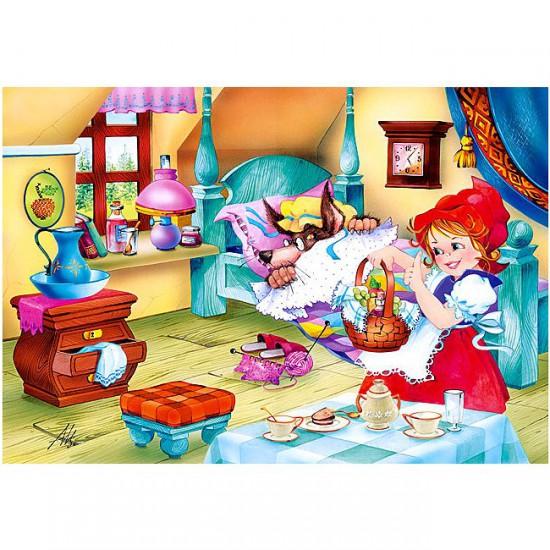 Puzzle 60 pièces : Le petit chaperon rouge et le loup - Castorland-06502-1